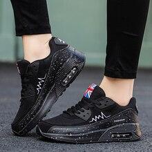 Женские сетчатые кроссовки, плоская подошва, с воздушной подушкой, модная повседневная обувь на платформе, на толстой подошве