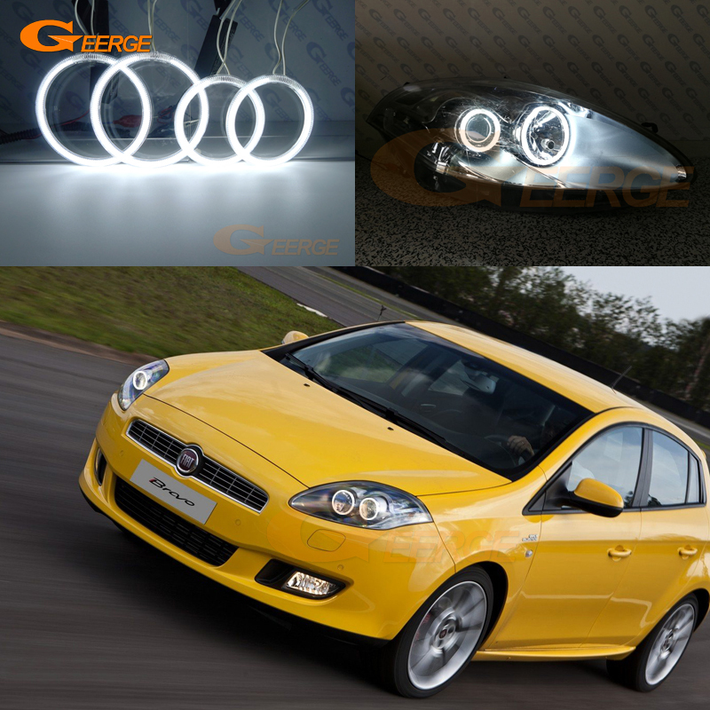 For FIAT BRAVO 198 2007 2008 2009 2010 2011 2012 2013 2014 2015 Excellent Ultra Bright CCFL Angel Eyes Kit Halo Ring