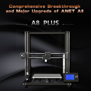 Image 5 - Anet A8 Plus Upgraded High precision DIY 3D Printer Self assembly  Large Print  Aluminum Alloy Frame Moveable LCD Control Panel