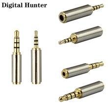 2 pçs jack 3.5mm a 2.5mm adaptador de áudio macho fêmea plug conector para aux alto-falante cabo fone ouvido estéreo microfone