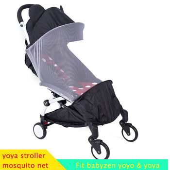цена на Baby Stroller Mosquito Net Insect Shield Net For Babyzen Yoyo+ Yoya Baby Throne Babytime Stroller Mesh For Stroller Accessories
