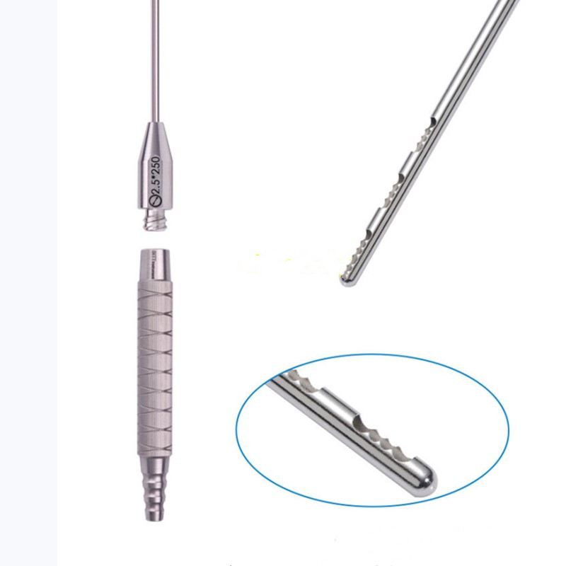 3 Holes Fat Harvesting Cannula For Stem Cells,liposuction Cannula Fat Transfer Needle For Beauty,sawtooth Shape Needle