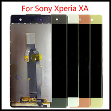 Top quality For Sony Xperia XA LCD Display + Touch Screen Digitizer Assembly F3111 F3113 F3115 Pantalla Replacement 5 0 lcd for sony xperia xa f3111 f3113 f3115 lcd display with touch screen display digitizer assembly free shipping