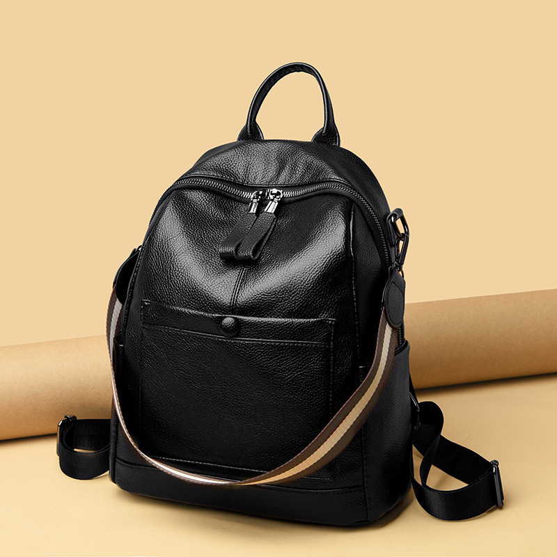 Multifunctional Women Backpack Quality Real Cow Leather Large Female Backpack Fashion Designer Bagpacks Ladies Traval Back Bags