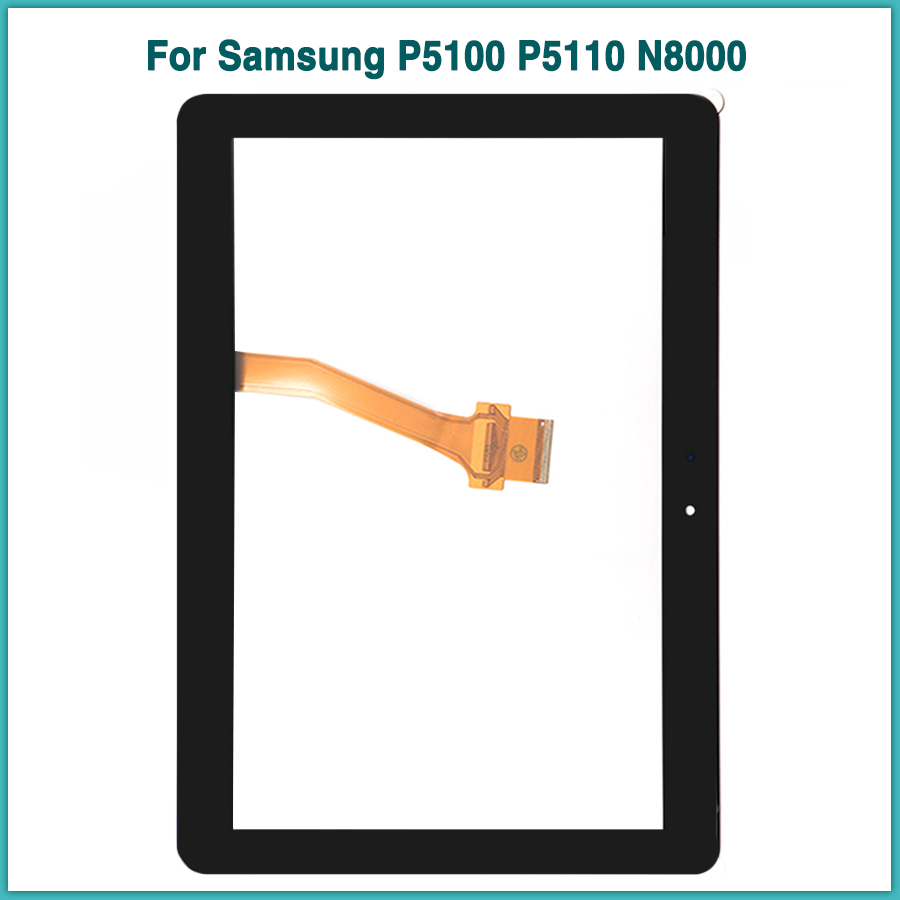 New P5110 <font><b>touchscreen</b></font> For Samsung Galaxy Tab 2 GT-P5100 P5100 P5110 N8000 10.1'' Touch Screen Panel Digitizer front Glass image