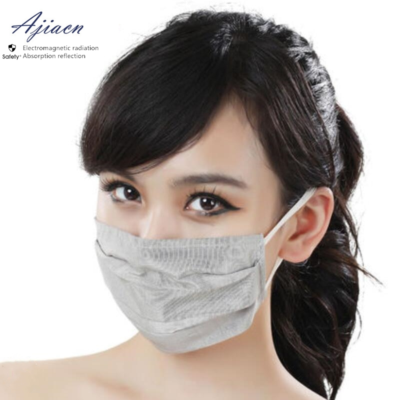 Recommend Electromagnetic Radiation Protective Silver Fiber Mask Protect Face Health Anti-acne EMF Shielding Breathing Mask