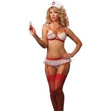 Sexy Lingerie Sets Women Erotic Underwear Temptation Nurse Uniform Costume Porno Cosplay Role Play Outfit Bra Panties