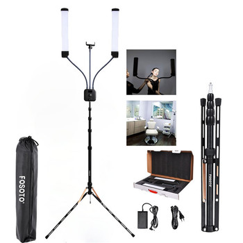 fosoto FT-450 Multimedia Extreme With Selfie Function photographic lighting 3000-6000K Led Video light Phone Camera lamp&Tripod