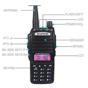 Image 4 - גבוהה 8W Baofeng UV 82 ווקי טוקי UV 82 ציד נייד CB רדיו חם 10km להקה כפולה VHF UHF משדר UV82 שתי דרך רדיו