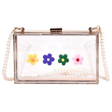 JHD-цветные цветы прозрачные модные дамские сумки-тоут с оппонентами, сумки через плечо, сумки-мессенджеры