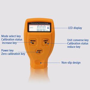 GM200 измеритель толщины лакокрасочного покрытия, тестер, ультразвуковой мини-измеритель толщины лакокрасочного покрытия автомобиля, руководство пользователя на русском и английском языках