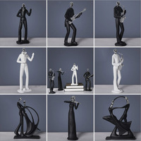 Modern Abstract Resin Handicraft Music Band Figurine Musician Sculpture Musical Instrument Statue Home Office Living Room Decor|Statues & Sculptures| |  -