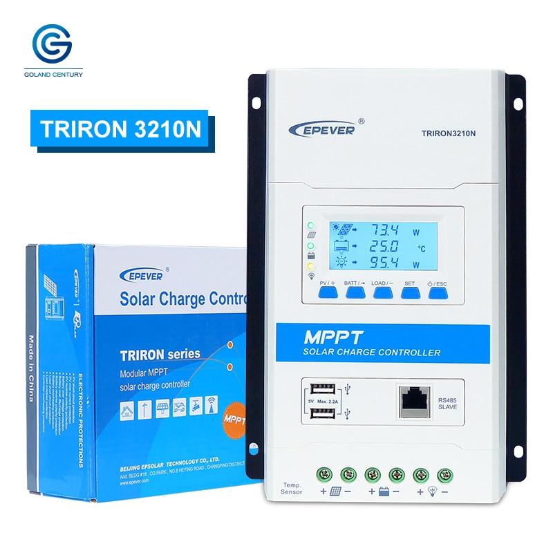 epever 30a triron 3210n mppt controlador de carga solar regulador solar 12v 24v max pv de