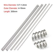 Diâmetro longo 305/0.7/0.8. 2mm 1/1 de aço inoxidável do fio da mola de pressão da compressão de 2 pces 304mm em forma de y