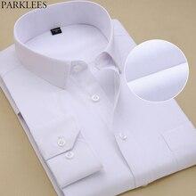 Brand White Men Shirt Long Sleeve Chemise Homme 2015 Fashion Business Design Mens Slim Fit Dress Shirts Casual Camisa Masculina цена