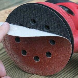 100pcs 125mm Round Shape Sanding Discs Hook Loop Sanding Paper Buffing Sheet Sandpaper 8 Hole Sander Polishing Pad