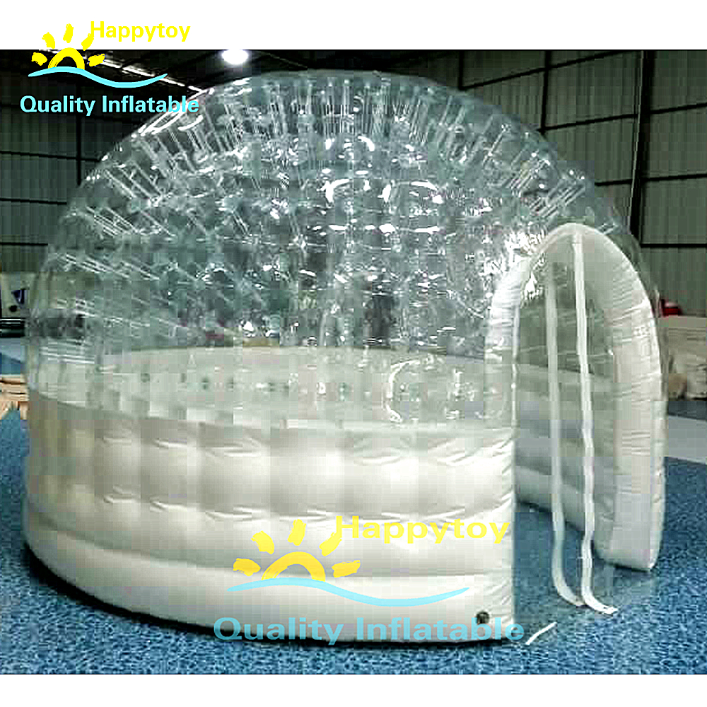 Round Pvc Inflatable Doom Tent Inflatable Bubble Igloo Tent Inflatable Clear Tent For Meeting Outdoor