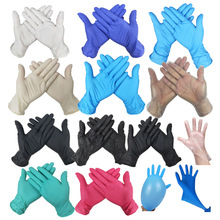 9 inch Powder Free Disposable Industrial Food Safety Gloves 3mm Nitrile Pvc Gloves 100pcs / box