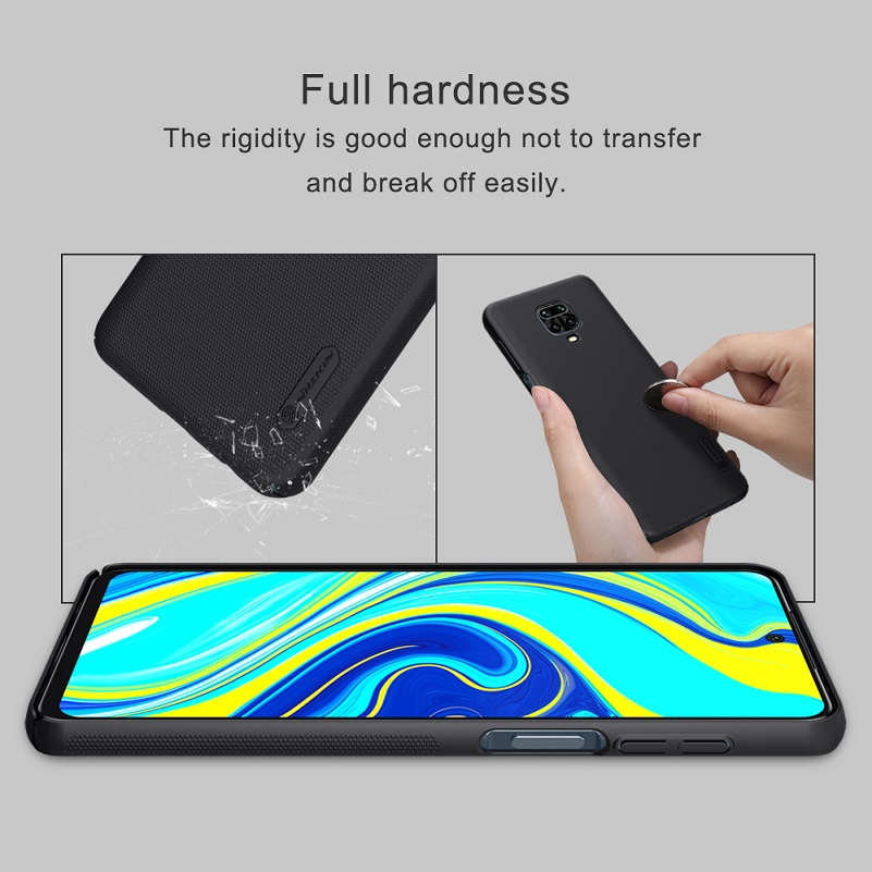 Nillkin Case for Xiaomi Redmi Note 9 Pro Max Case Frosted Shield Hard PC Phone Back Bag Full Cover Case on Redmi Note 9s 6.69''