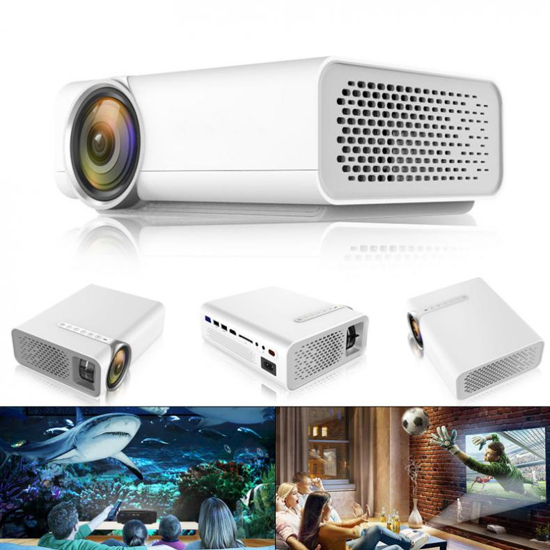 YG510 Universal 120 Inch HD Portable Mini LED Pocket Projector for Home and Entertainment Supporting Wired Sync Display