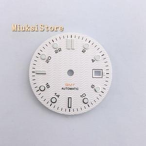Image 4 - 1PCS 31.5mm סטרילי לבן שעון חיוג Fit ETA 2836/2824 DG2813/3804 Miyota 8215 821A 8205 אוטומטי תנועה p933 N