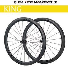 ELITEWHEELS – jeu de roues de vélo en carbone KING Road DT Swiss 240S Hub 38 40 50 55 60 82mm 700c, jantes tubulaires prêtes à l'emploi