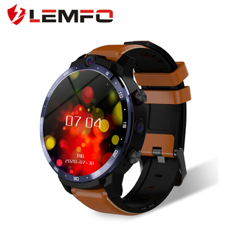 LEMFO LEM12 PRO Smart Watch 4G+64G Android 10 Wireless Projection 400*400 Resolution 1.6 Inch GPS Dual Cameras DIY Face for Men