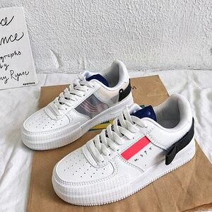 Image 5 - Luxe Vrouwen Gevulkaniseerd Schoenen Lente Herfst Sport Ademend Sneakers Trend Trainers Unisex Casual Witte Schoenen Zapatillas Hombre