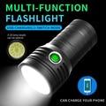 4800 мАч T6 светодиодный светильник-вспышка встроенный аккумулятор Мощный USB 18650 светильник-Вспышка водонепроницаемый фонарь-светильник 3 реж...