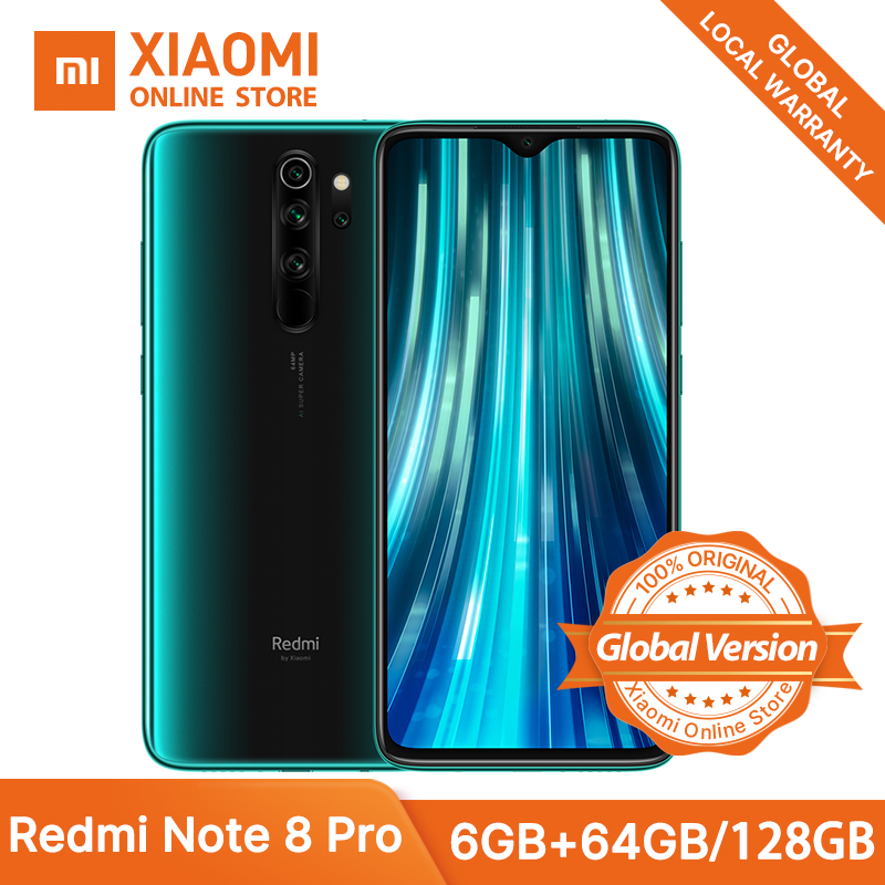 Global Version Xiaomi Redmi Note 8 Pro 6GB 64GB NFC Smartphone Helio G90T Game Core 64MP 4 Cameras 4500mAh Super Battery Phone