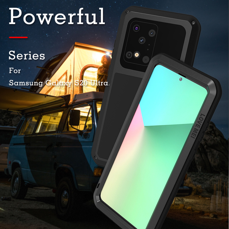 For Samsung Galaxy S20 Ultra Luxury Doom Armor Duty Shockproof Metal Aluminum Phone Cases For Samsung S20 20 Ultra S10E Note10+