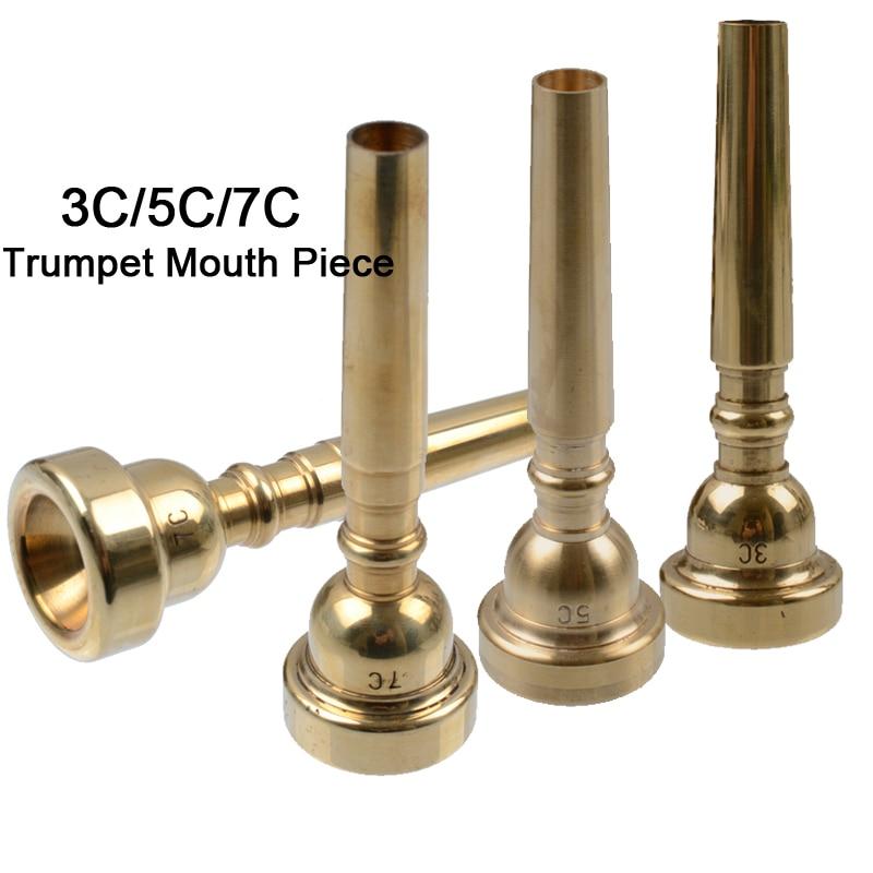 Alert 1pcs High Quality 3c/5c/7c Trumpet Mouthpiece Copper Musical Brass Instruments Trumpet Accessories
