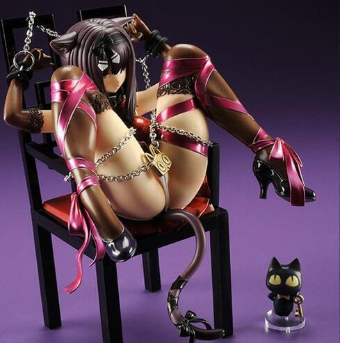 Anime Embrace Planet of the Cat and Chairs <font><b>Sexy</b></font> <font><b>Girls</b></font> PVC Action Figure Chu-kana Neko to Isu Collection Model Toys Brinqu image