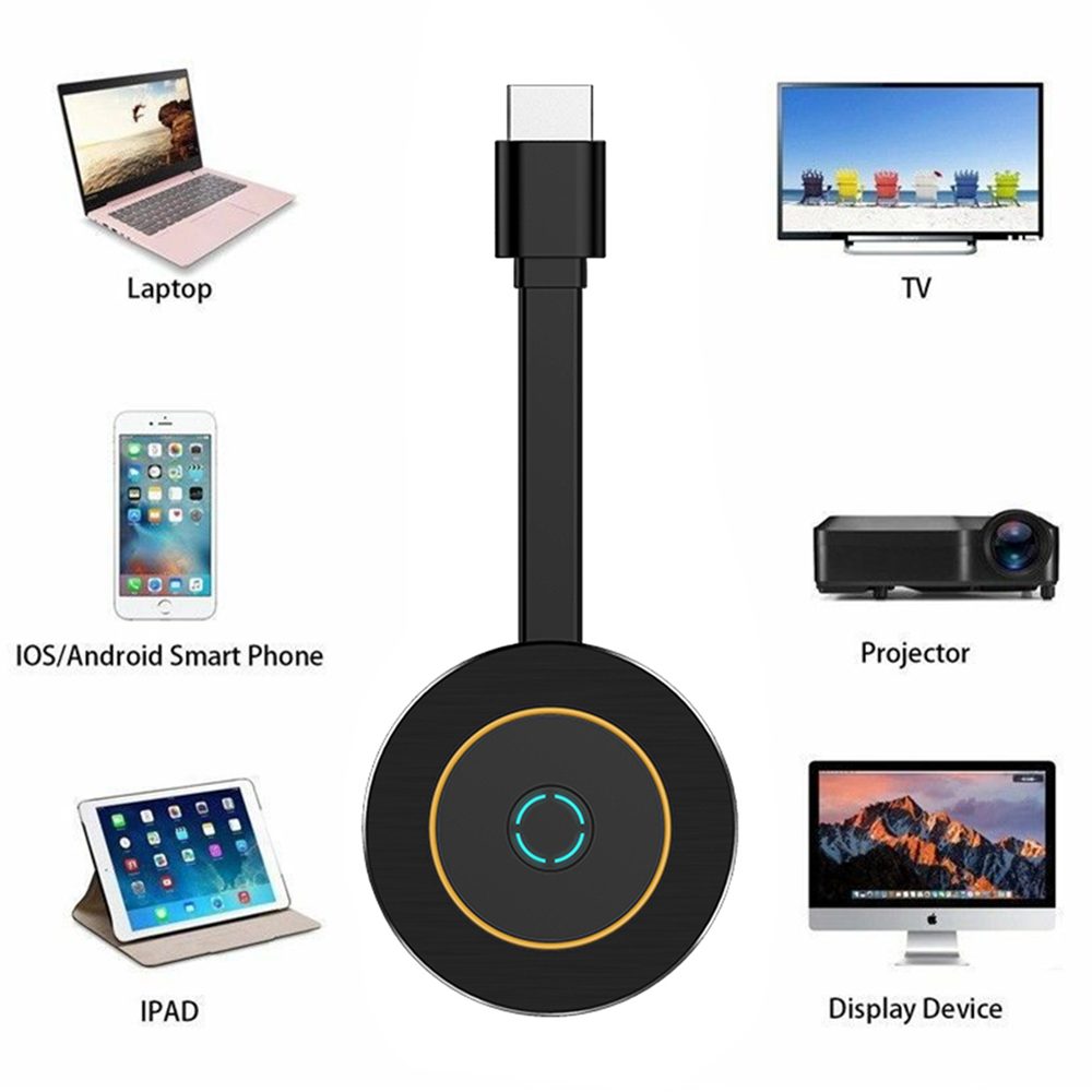 MiraScreen G10 2.4&5G WiFi Display TV Dongle Receiver 4K Miracast Airplay DLNA