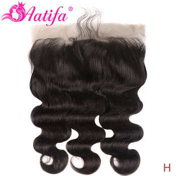 13X6 Lace Frontal Body Wave Ear to Ear Lace Frontal Closure Free Part With Baby Hair Pre Plucked Human Hair Aatifa Remy Hair
