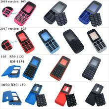 2018 para Nokia 105 carcasa frontal marco cubierta + cubierta trasera/cubierta de la tapa de la batería + teclado