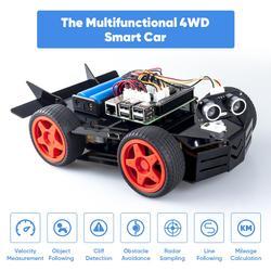 SunFounder Raspberry Pi coche Kit de Robot para el frambuesa Pi 4B y 3 modelo B, modelo B +, 3B DIY electrónica Robot