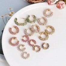 Atacado jujia luxo simulado pérola de cristal brincos pequenos para mulheres boêmio vidro orelha manguito brincos moda cz jóias