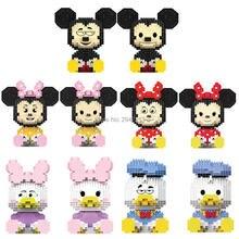 цена на hot LegoINGlys creators classic mouse duck Mickey minnie Donald daisy model mini micro diamond building blocks bricks toys gift
