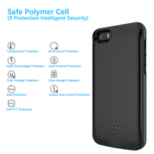 For iPhone SE 5SE 5 5S Battery Charger Case 4000mAh Power Bank Charging Case Power bank Charger Case For iPhone 5 Battery case