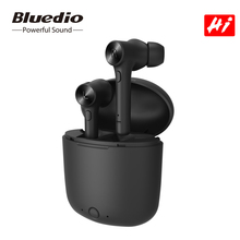 Bluedio היי אלחוטי אוזניות bluetooth 5.0 אוזניות hifi קול אוטומטי לשחק להשהות ספורט אוזניות עם טעינת תיבת מובנה מיקרופון tws