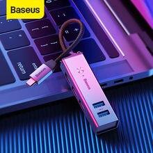 HUB USB C Baseus vers USB 3.0 HUB USB 2.0 pour MacBook Pro Surface Pro 6 moyeu C Type développer 5 Ports USB répartiteur USB