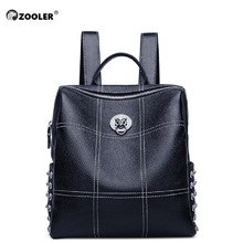 2019 New ZOOLER Real Cow Leather backpack Girls Backpacks Fashion Tote High Quality Luxury Black Bag Women Brand Bolsas#LT210