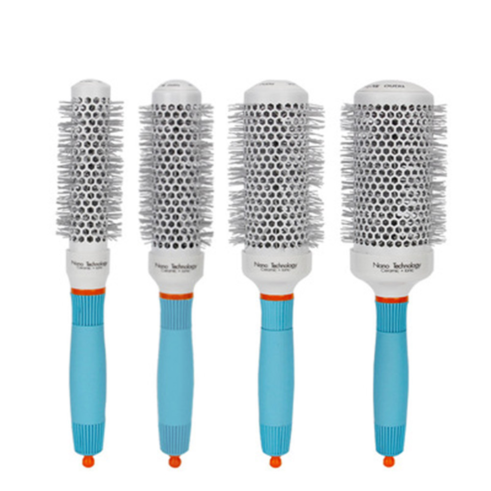 Professional Round Hair Brush Comb Ceramic Ion Hairbrush Comb Salon Hair Styling Tool KG66