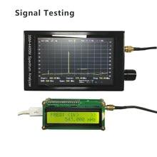 4.3 Polegada 35m-4400m handheld simples analisador de espectro tela lcd profissional analisador de espectro medição de sinal interfone