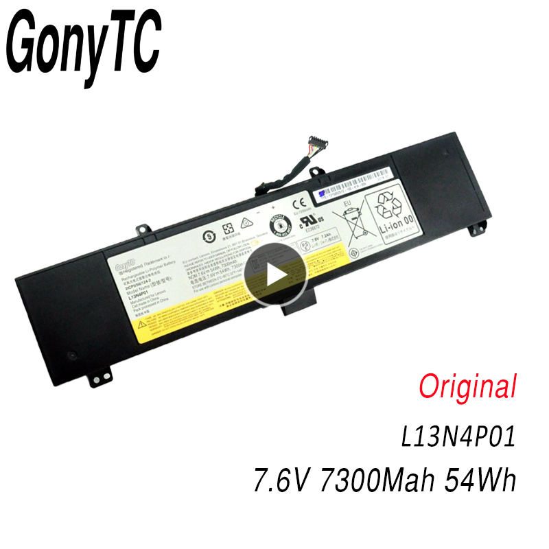 7.6V 54Wh New Original Laptop Battery For Lenovo Y50 Y50-70 Series Y50-70-ISE Y50-70 Y70-70 Y70 L13N4P01 L13M4P02