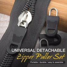 Detachable Zipper Puller-Set Universal Clothing-Accessory Dress Elastic-Waist Diy 10pcs