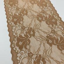 3y/lot width 21cm shimmer lace skin gold elastic trim with golden decor lingerie DIY accessory wholesales