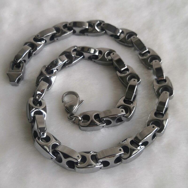 10mm largeur varier longueur 14 ''-40'' hommes bijoux design classique hommes mode hi-tech résistant aux rayures tungstène colliers et pendentifs