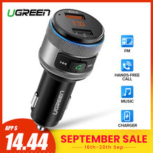 Ugreen USB Car Charger Bluetooth FM Transmitter QC Quick 3.0 Charge Fast Charger for Xiaomi Samsung iPhone Huawei QC3.0 Charger(China)